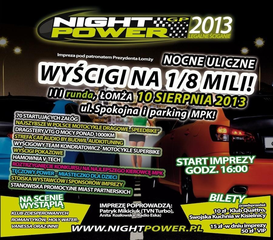 Night Power 2013 w Łomży już 10 sierpnia  Do wygrania bilety